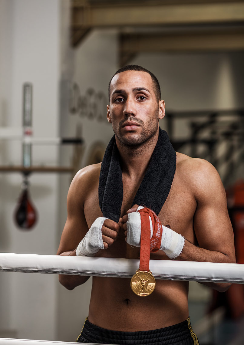 James DeGale portrait for Fighting Fit