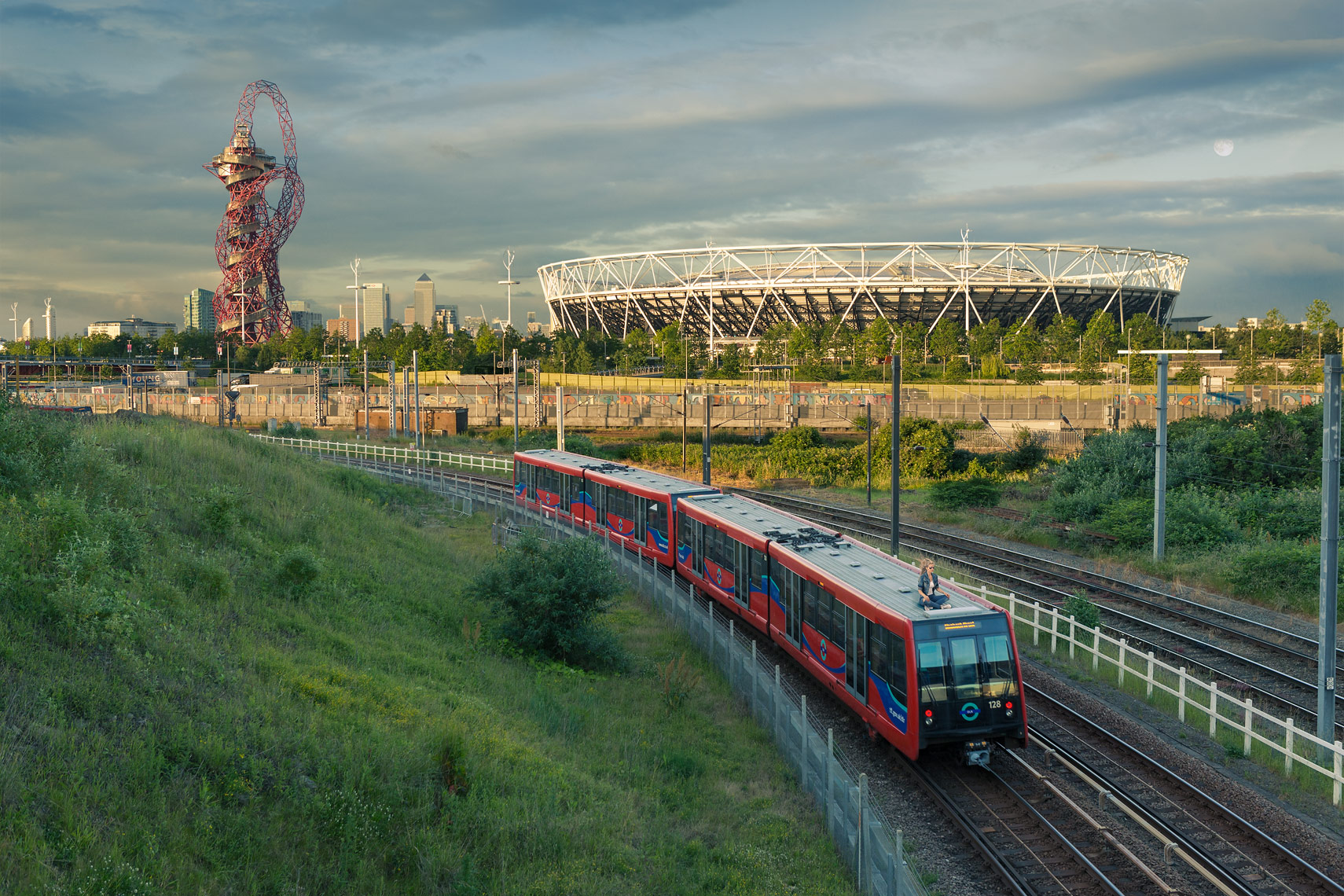 Oksana on the DLR, London, E20