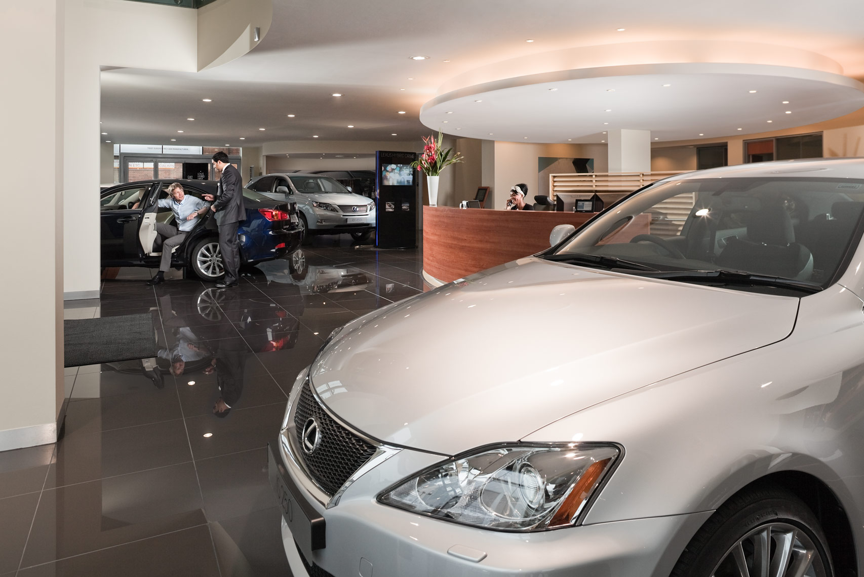 DPS showroom interior photography for Lexus magazine